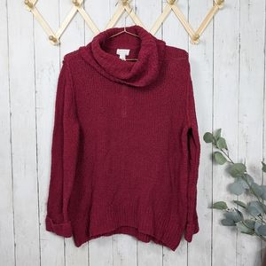 Caslon Maroon Cowl Neck Sweater